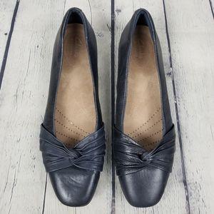 CLARKS | Artisan slip-on knotted leather shoes